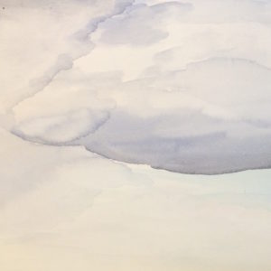 watercolor of clouds